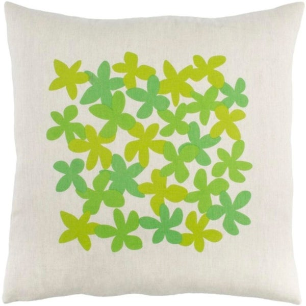 """20"""" Classic Money, Grass and Brash Pear Green Decorative Throw Pillow - Poly"""