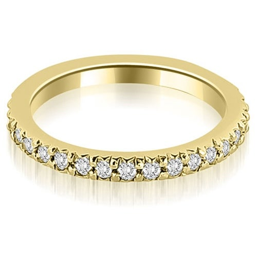 Petite 0.65 cttw. 14K Yellow Gold Round Diamond Eternity Stackable Ring HI,SI1-2