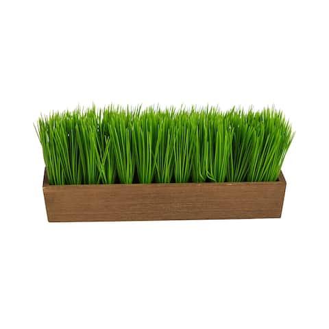 """12"""" Grass Artificial Plant in Decorative Planter - 3"""""""