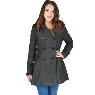Urban Republic Womens Juniors Pea Coat Convertible Military - M