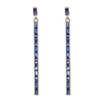 Blue Sapphire Baguette Spike Earring