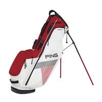 New Ping 2018 Hoofer Lite Golf Stand Bag (White / Red / Black) - white / red / black