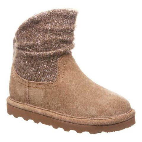 Bearpaw Girls' Virginia Bootie Youth Hickory II Suede