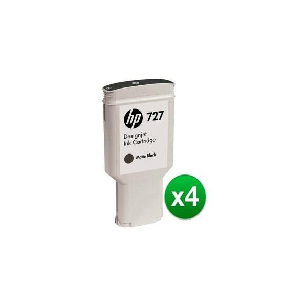 HP 727 300-ml Matte Black DesignJet Ink Cartridge (C1Q12A) (4-Pack)