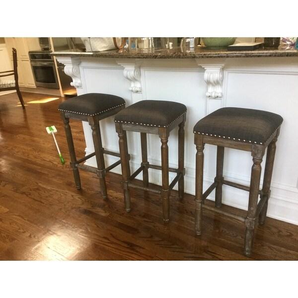renate grey bar stools set of 2 free shipping today