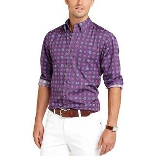 Tommy Hilfiger Lyon Fouler Slim Fit Grape Royale Long Sleeve Shirt X-Large