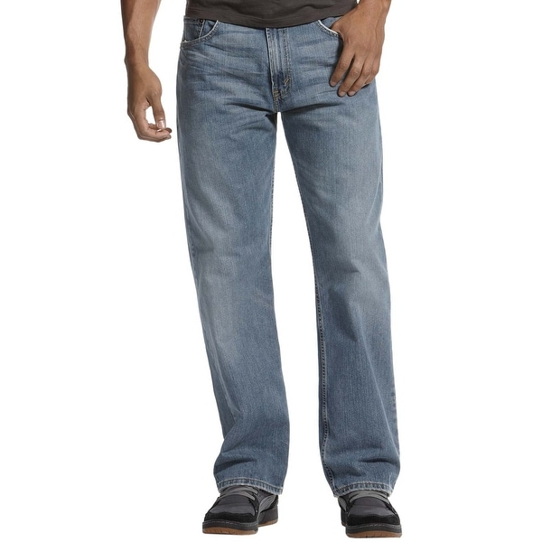 b50035a7 Shop Levi's 569 Loose Fit Rugged Blue Wash Straight Leg Jeans 34 x 30 -  Free Shipping On Orders Over $45 - Overstock - 19549654