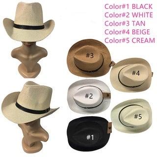 Women And Men Cowboy Hat Straw