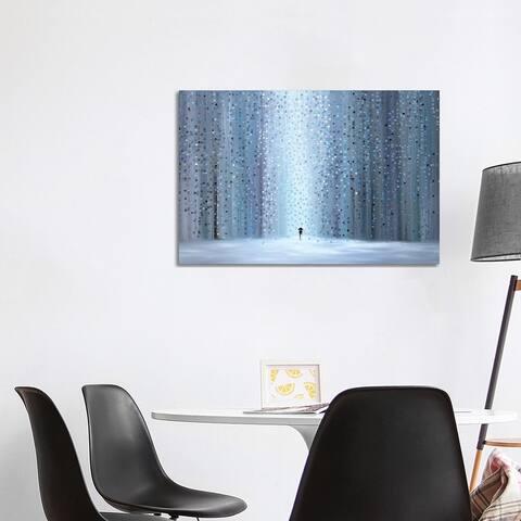 """iCanvas """"Rainy Stroll"""" by Ekaterina Ermilkina Canvas Print"""