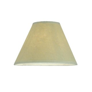"""Meyda Tiffany 116565 7"""" W X 4.5"""" H Aged Celadon Beige Parchment Replacement Shade"""