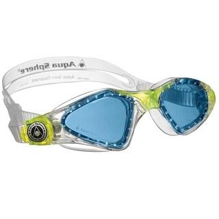 Aqua Sphere Kayenne Jr. Blue Lens Swim Goggles - Transparent/Lime