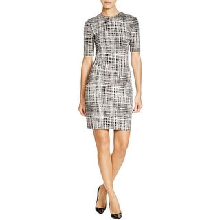 Theory Womens Rijik B Wear to Work Dress Pattern Sheath