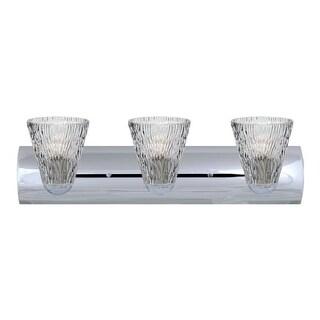 Besa Lighting 3WZ-NICO5CL-LED Nico 3 Light LED Vanity Strip with Clear Glass Shades