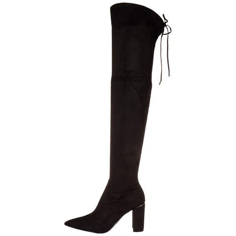 Marc Fisher Women's Shoes vany2 Almond Toe Knee High Cold Weather Boots