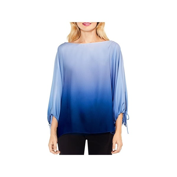 Vince Camuto Womens Pullover Top Crepe Ombre
