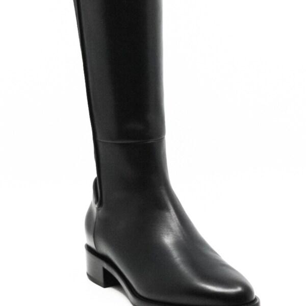Aquatalia Nastia Block Heel Boots Black