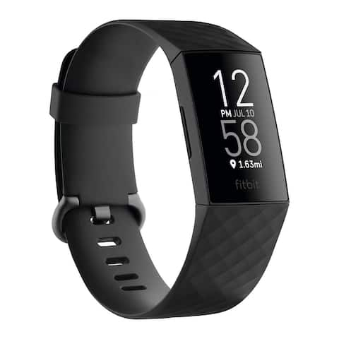 Fitbit Charge 4 One-Size Health and Fitness Tracker (Black)