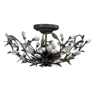 Vaxcel Lighting C0093 Trellis 4 Light Flush Mount Indoor Ceiling Fixture with Accent Crystal Beads - 16 Inches Wide