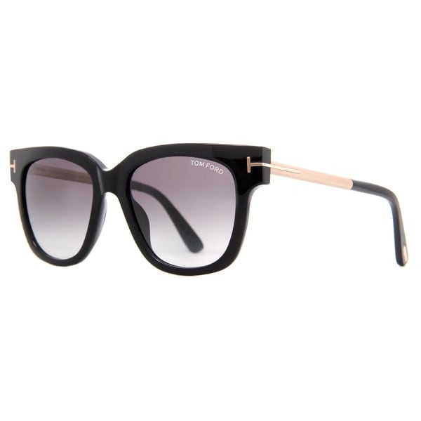 Tom Ford Tracy TF436 01B Shiny Black Gold/Gray Gradient Sunglasses - shiny black/gold - 53mm-18mm-140mm