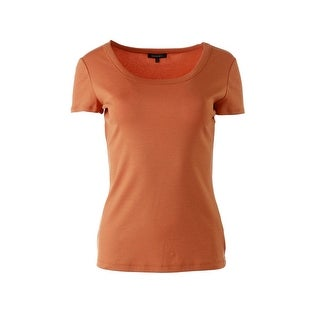 Lafayette 148 Womens Stretch Jewel Neck T-Shirt