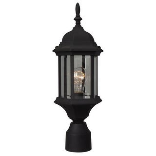 """Craftmade Z295 Hex Style Cast Single Light 6-1/2"""" Wide Landscape Single Head Post Light with Clear Seeded Glass"""