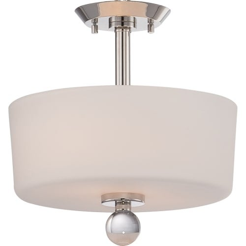 """Nuvo Lighting 60/5497 Connie 2 Light 13"""" Wide Semi-Flush Ceiling Fixture"""