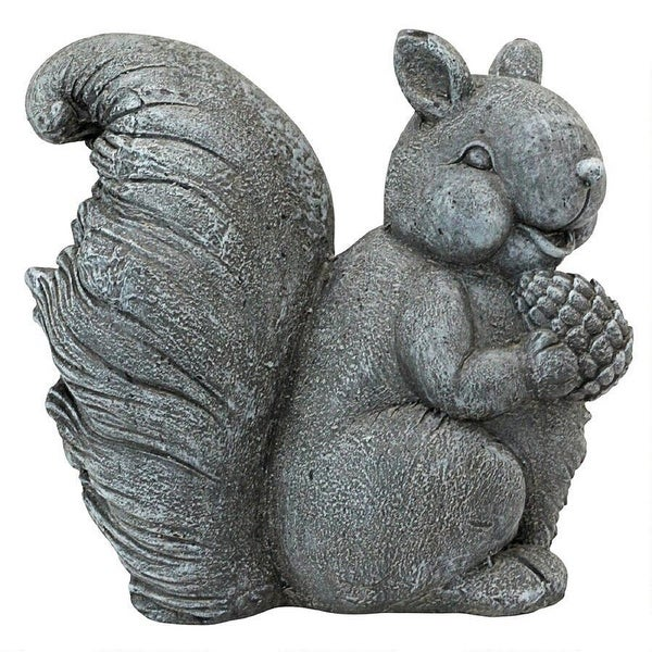 "15"" Smiling Indoor/Outdoor Garden Squirrel Statue - N/A"