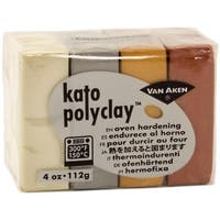 Kato Polyclay 2Oz 4-Color Set-Metallic