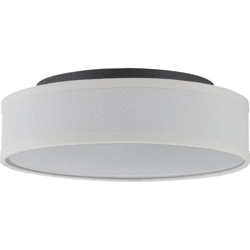 """Nuvo Lighting 62/525 Heather Single Light 13"""" Wide Integrated LED Flush Mount Drum Ceiling Fixture"""