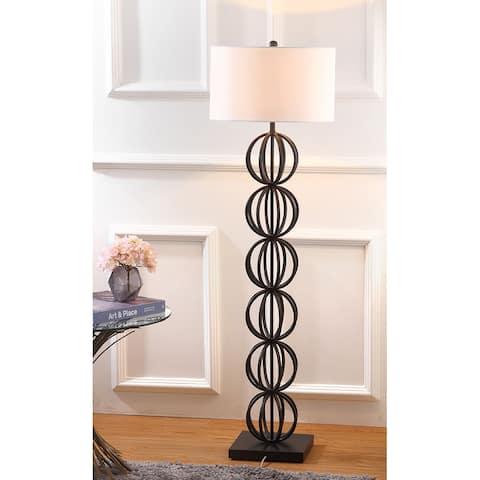 "SAFAVIEH Lighting 59-inch Suzie Sphere Black Floor Lamp - 17""x17""x58.25"""