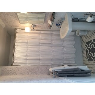 Lush Decor Twinkle White Shower Curtain