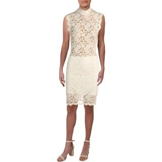 Link to Posh Womens Cocktail Dress Lace Cap Sleeves - Ivory Similar Items in Dresses
