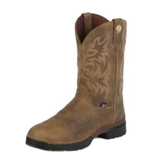 Justin Western Boots Mens George Strait Gaucho Waterproof Tan GS9010