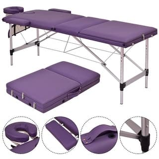 Costway Purple Portable Massage Table Aluminum Facial SPA Bed Tattoo w/Free Carry Case https://ak1.ostkcdn.com/images/products/is/images/direct/ad183a6eb0d29966b18e9eb44f71acb42ab32446/Costway-Purple-Portable-Massage-Table-Aluminum-Facial-SPA-Bed-Tattoo-w-Free-Carry-Case.jpg?impolicy=medium