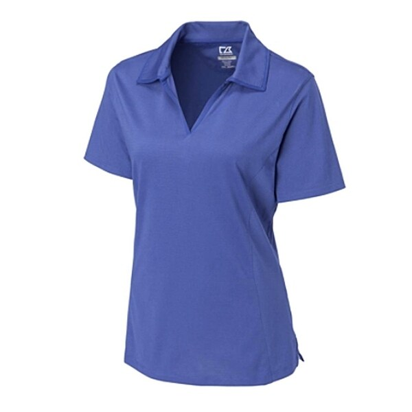 Cutter & Buck Women's Tour Blue XL Drytec Medina Tonal Short Sleeve Polo