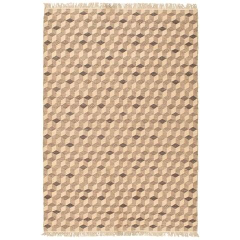ECARPETGALLERY Old Style Tan Wool Kilim - 5'3 x 7'10