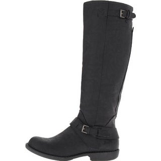 Blowfish Womens Arvonne Leather Almond Toe Knee High Fashion Boots