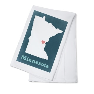 Minnesota - Chalkboard - Lantern Press Artwork (100% Cotton Towel Absorbent)