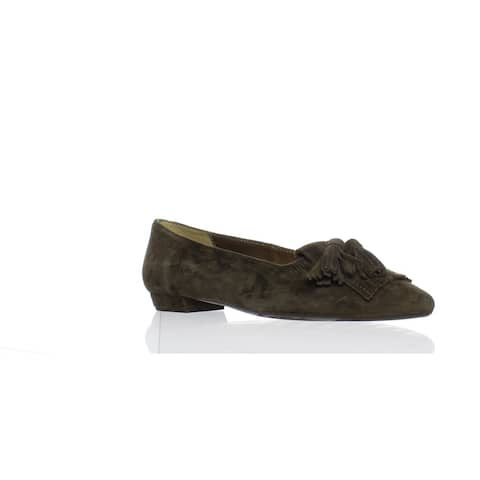 VANELi Womens Gemma 500002-250 Fango Suede Ballet Flats Size 6
