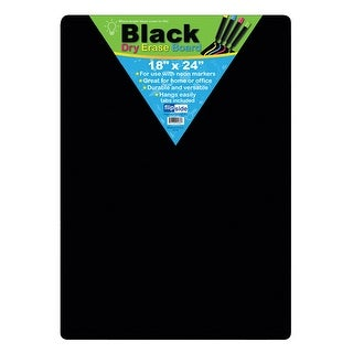(2 Ea) Black Dry Erase Board 18X24