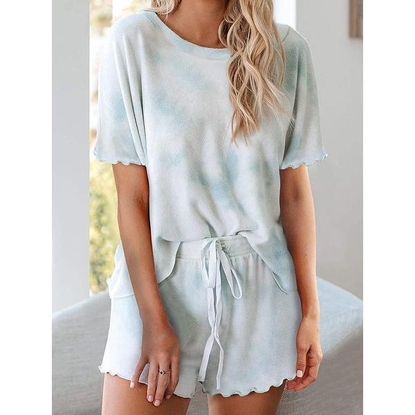 Perfection Short Sleeve High Rise Sleepwear Set Skinny Girl. Opens flyout.
