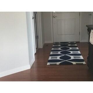 nuLOOM Handmade Modern Geometric Runner Rug (2'6 x 8')