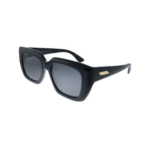 Bottega Veneta BV 1030S 001 Womens Black Frame Grey Lens Sunglasses
