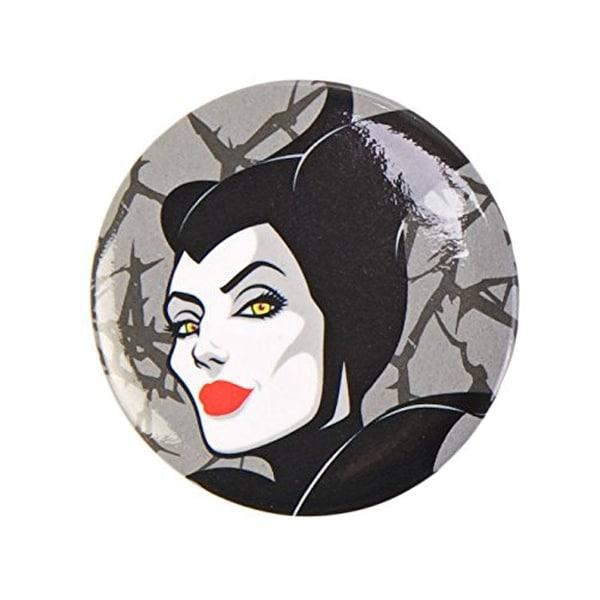 "Disney's Maleficent 1.5"" Button: ""Maleficent (Head)"" - Silver"