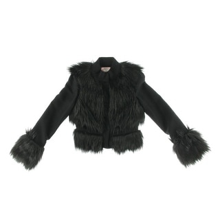 Phoebe Couture Womens Jacket Textured Faux Fur - 4