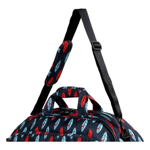 Indi J World New York Christy Rolling Duffel Bag