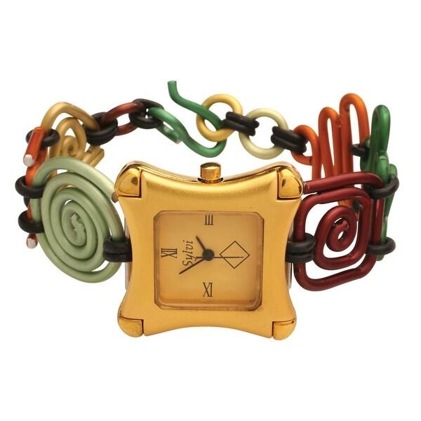 Women's Art Links Multicolor Aluminum Bracelet Watch - Multi
