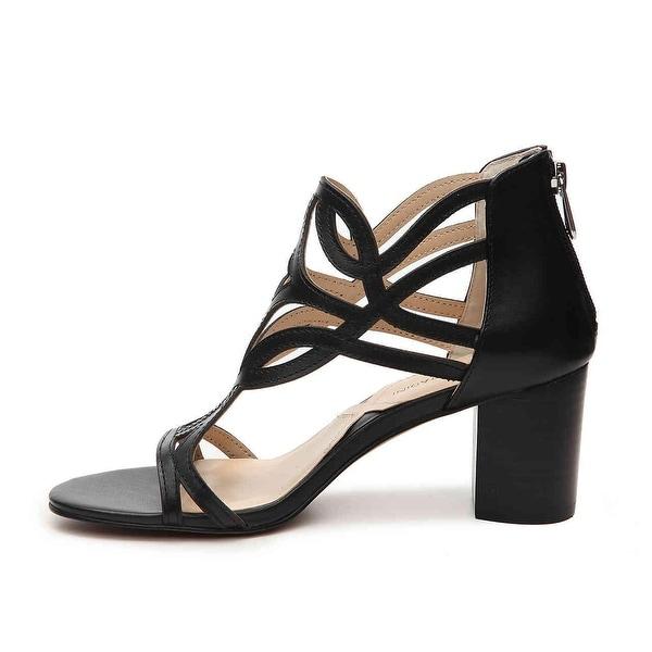 Adrienne Vittadini Womens av perlin Leather Open Toe Casual Strappy Sandals - 6
