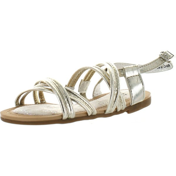 Stuart Weitzman Girls Carmia Corded Designer Strappy Sandals