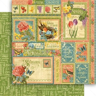 """Seasons Double-Sided Cardstock 12""""X12""""-Spring Collective"""